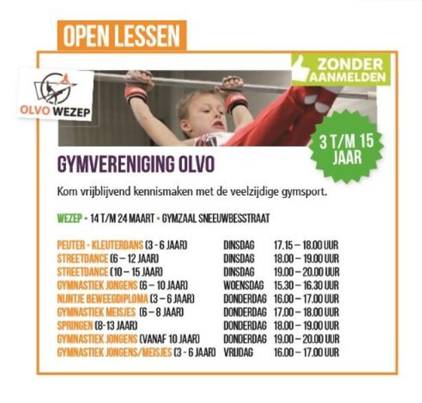 open lessen OLVO week 11
